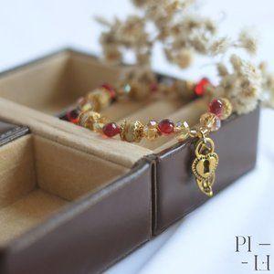 Red & Gold Handmade bracelet